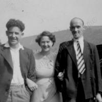 Eddy & Phyllis Haworth with Geoffrey Varley - JET00279