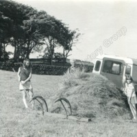 Haymaking at Swan Bank, Cragg Vale July 1969 - CVH00203