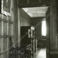 Woodsome Hall, door from Great Hall to Drawing Room - HLS06061