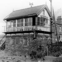 Smithy Bridge Signal Box 1965. - LYR00298