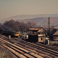 Demolition of Hallroyd Signal Box Todmorden - TAS001071