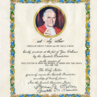 Certificate of Papal Blessing - COC00242
