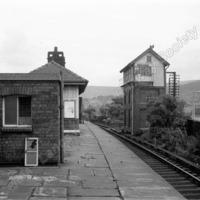 Littleborough Station and Signal Box 1965. - LYR00290