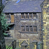Gate to the Unitarian Church, Honeyhole, Todmorden - TAS00466