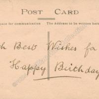 Back of Postcard - HOL00144