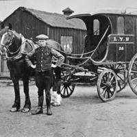 Lancashire and Yorkshire Railways horse drawn delivery van Todmorden - TAS001076