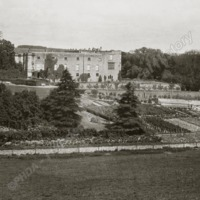 Gilling Castle, distant view from the South - HLS05804