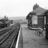 Littleborough Station - 1965 General view looking North East  - LYR00289